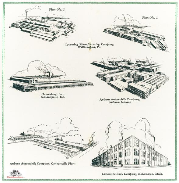 Auburn-Duesenberg Factories 1930