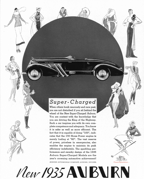 1935 Auburn 851 Supercharged Speedster.  Illus courtesy AACA Library