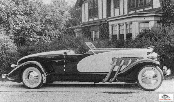 1933 Duesenberg Model SJ Weymann-bodied Speedster.  photo courtesy ACDA Museum