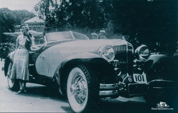1931 Cord L-29 Speedster at the Paris Concours, June 1931.  photo courtesy ACDA Museum