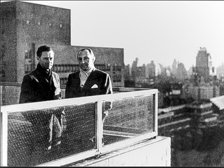 Max Hoffman with Ferry Porsche, 1952, NYC  photo courtesy Porsche AG