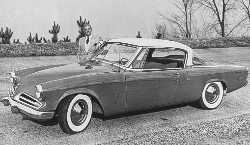Raymond Loewy in 1953  Studebaker Corp photo courtesy AACA Library