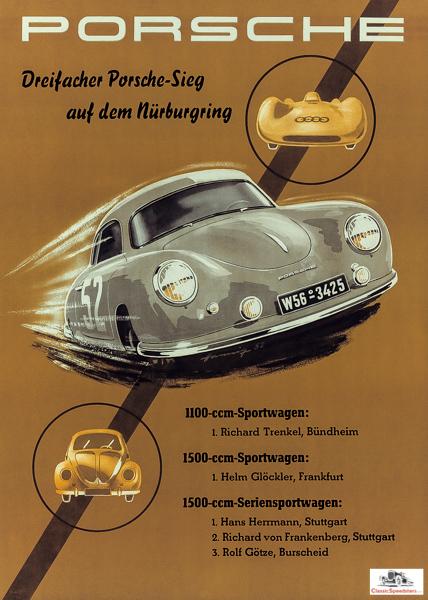 1952 Porsche poster  image courtesy Porsche AG