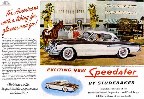1955 Studebaker Speedster  ad courtesy Studebaker National Museum
