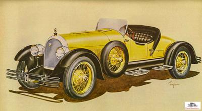"Kissel ""Gold Bug"" Special Speedster  illustration courtesy Antique Automobile magazine"