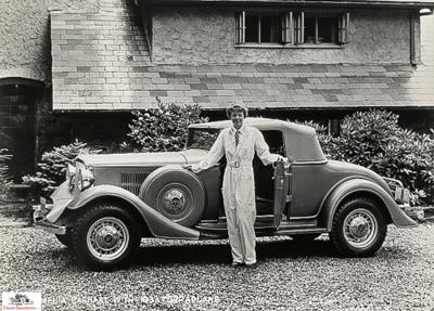 Amelia Earhart w 1932 Essex Terraplane.  photo courtesy Automotive Collection, Detroit Public Library