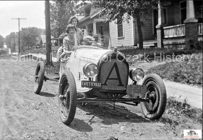 "The ""Arkansas Traveler,"" a Model T speedster from 1924.  Image courtesy Shiloh Museum of Ozark History"