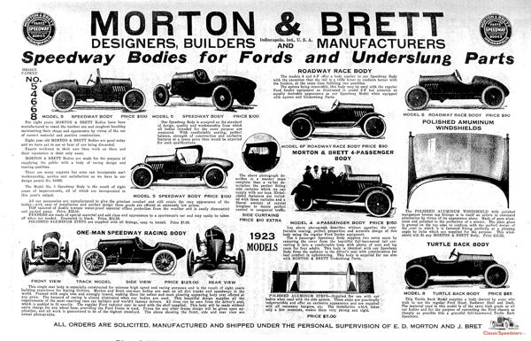 1923 Morton & Brett ad.  image courtesy Larry Sigworth collection