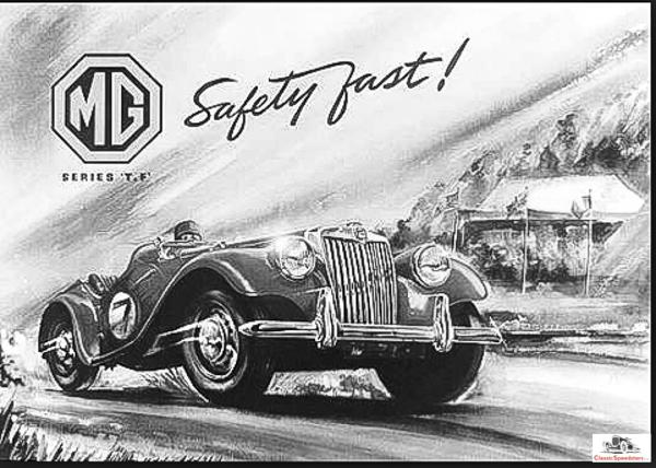 1955 MG TF factory illustration