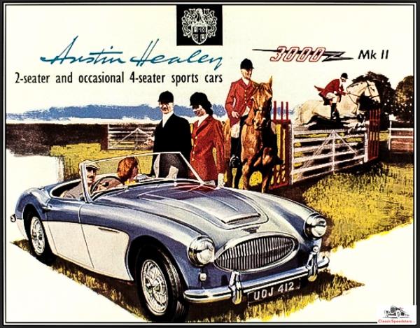 1962 Austin Healey 3000 lifestyle ad