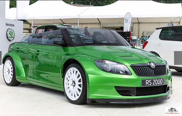 2011 Skoda Speedster at a Volkswagen Group rollout.  factory photo