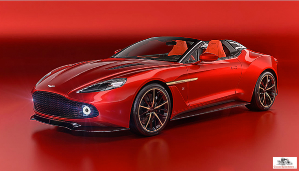 2017 Aston Martin Vanquish Zagato Speedster, factory photo. All 28 examples were pre-sold.  Sorry!