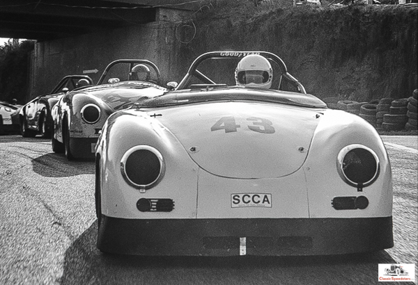 356 Speedsters in the lead and on the move!  photo courtesy Leonard Turner