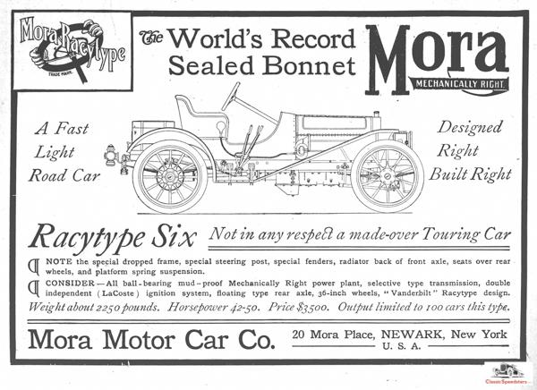 1907 Mora Raceytype Six