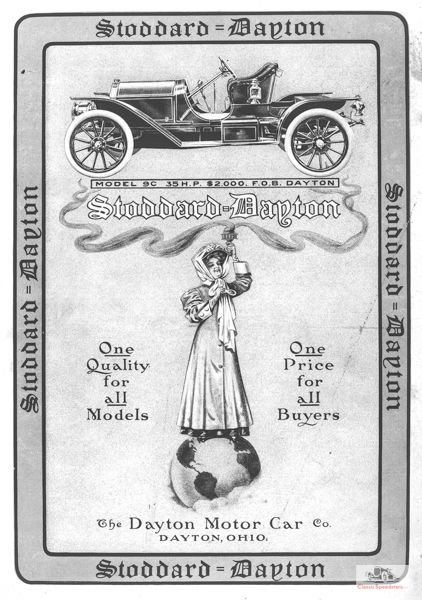 1909 Stoddard-Dayton 9c Runabout