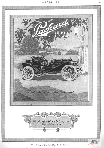 1908 Packard Model 30 Runabout. This was an early cutdown style done the Packard way.