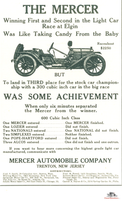1911 Mercer Raceabout. Outfitted for the street, but also ready to race and win!