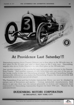 1917 Duesenberg ad