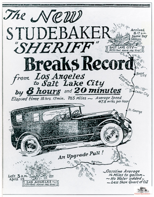 1926 Studebaker ad.  Library of Congress