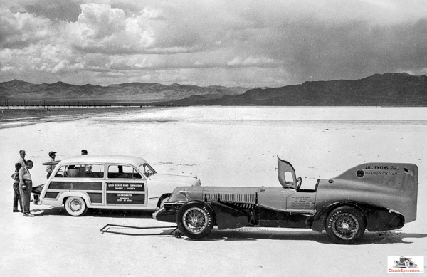 Mormon Meteor III in 1950. Note the elongated frame.  Shipler photo collection courtesy Marriott Library, U of Utah