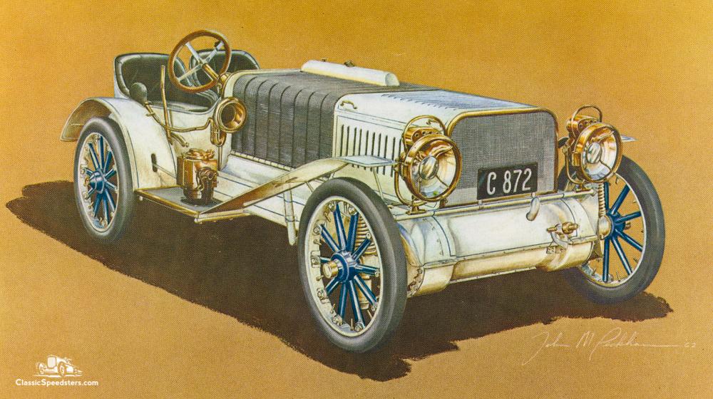 1905 Christie Gentleman's Speedster.  Illustration courtesy Antique Automobile magazine