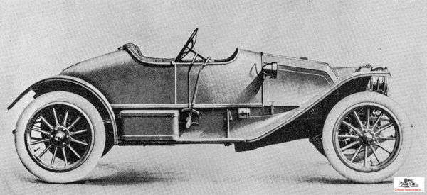 The Franklin Motor Company of Syracuse, New York was famous for its commitment to air-cooled cars, and in its early years would compete in endurance events. This was their 19010 Franklin Speed Car.  Illustration courtesy of the Franklin Automobile Club