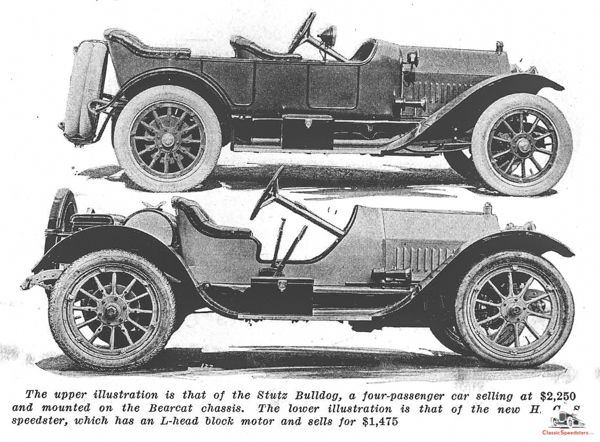 """1914 Stutz H.C.S. Speedster, also known as the """"Baby Bearcat.""""  article image courtesy HCFI.org"""