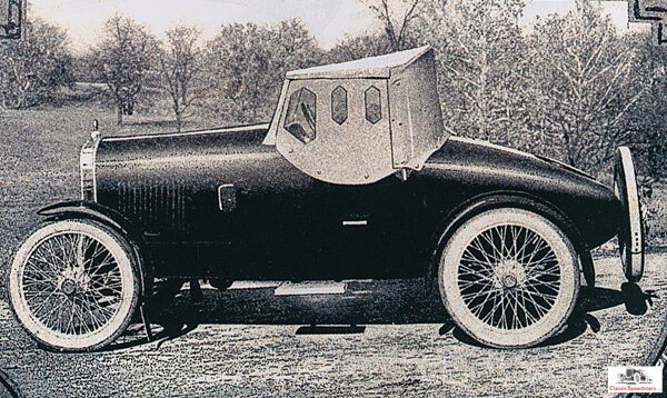 1921 Mercury catalog image illustrating the early-style top. Later-style tops had an additional bow to provide more headroom. Note the overall excellent build quality of this kit!  image courtesy Jarvis Erickson collection