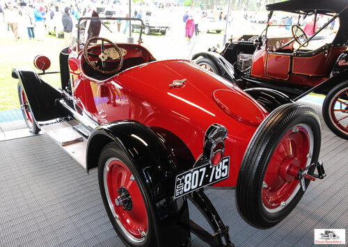 1926 Mercury Sportabout using a Chevrolet chassis. Note the spacers between the fender and the body, accentuating its tapered tail. Disc wheels were a  shazam  option of the times.  photo taken by editor at 2017 Pinehurst Concours