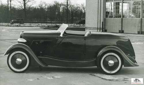 In 1932 Edsel Ford collaborated with his designer, E.T. Gregorie, to design this speedster on a Ford Model 18 chassis.  photo courtesy The Henry Ford