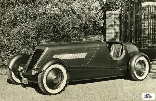 This 1934 design by Ford and Gregorie, the Model 40 Speedster, represents a high point in their collaboration.  photo courtesy The Henry Ford