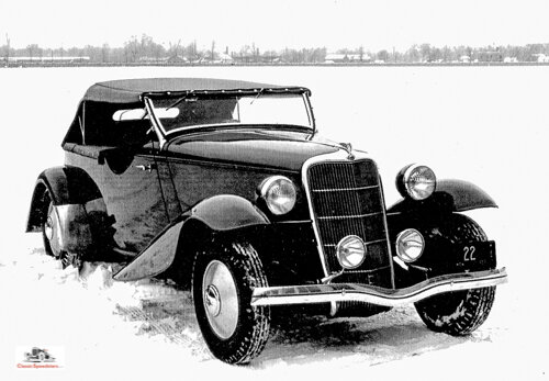 1935 saw Ford and Gregorie's last collaboration, a speedster phaeton prototype. Too bad it would never make it to market…  photo courtesy Henry Dominguez collection