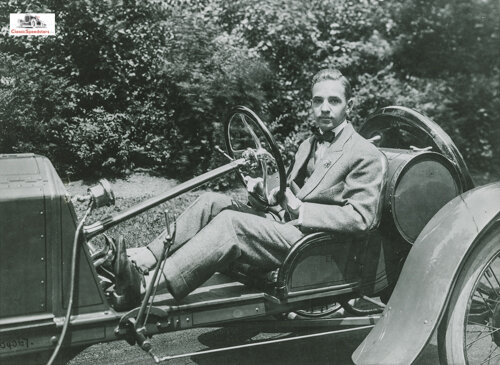 Edsel Ford in his Ford speedster from 1912.  photo courtesy The Henry Ford