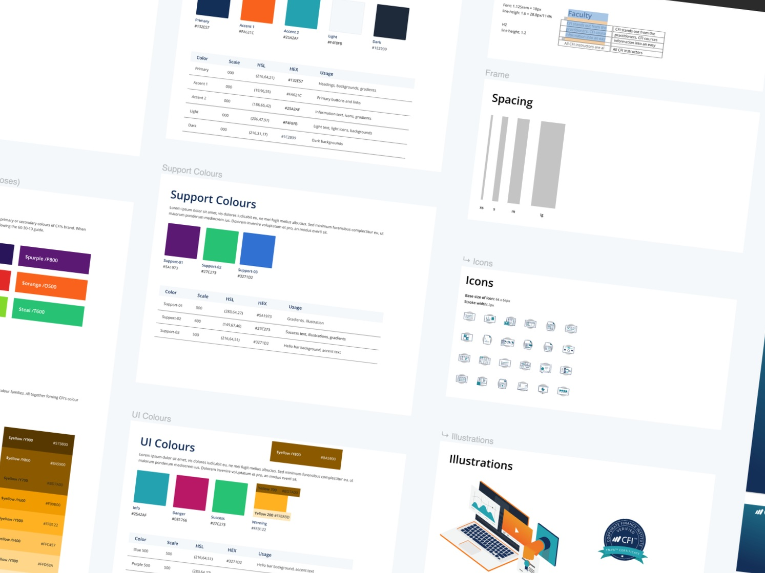 Building a Visual Language - Behind the scenes of building a design system for the Corporate Finance Insitute.com