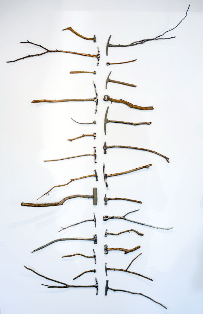 Siri Brekke . One of several works by Brekke from her project based on the tools and artefacts that her grandfather made for the practice as a blacksmith artist – a practice he soon had to give up due to lack of material and the need for labour craft in the rebuilding of Norway following World War II. (Photo: Ian McKay)