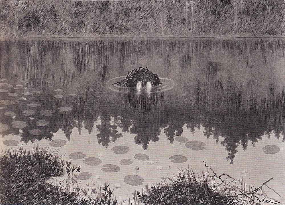 Theodor Kitteln ,  Nøkken , (1887-1892) [Not in the exhibition]