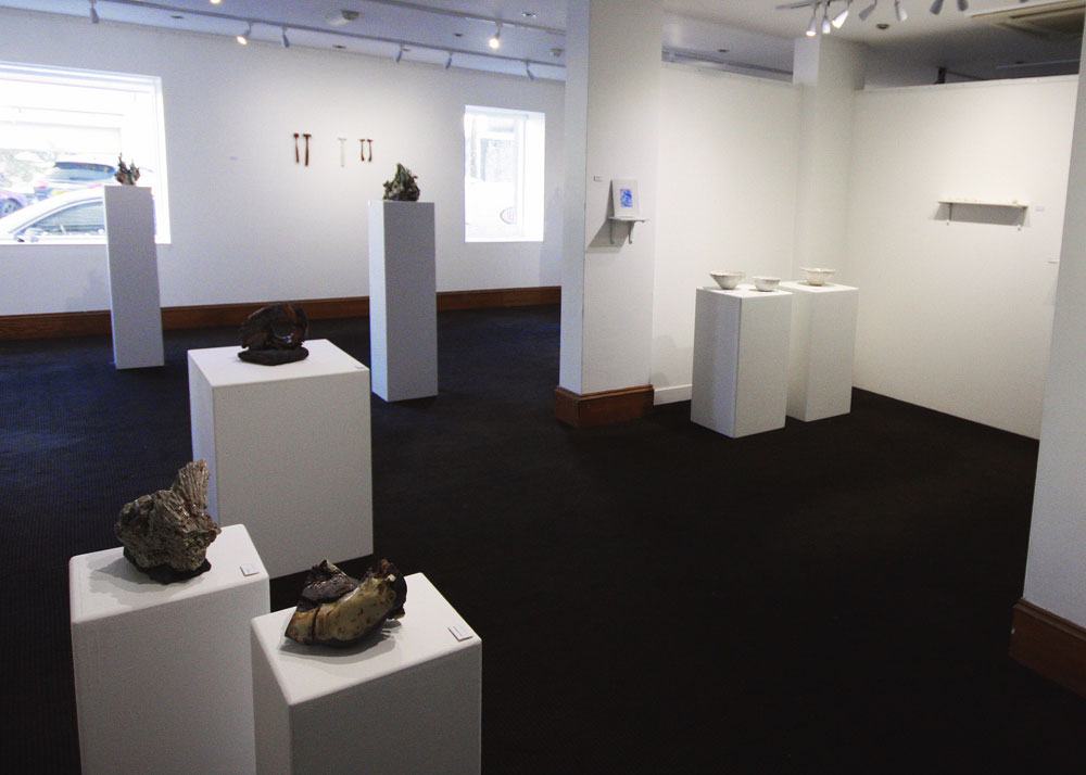 Northbound | Nordgående , Installation view showing work by Jenny Mackenzie Ross and Rebecca Brown. (Photo: Ian McKay)