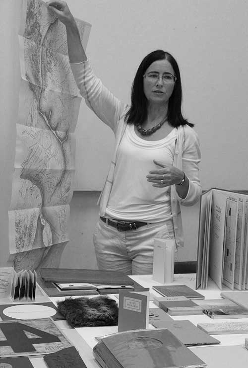 Déirdre Kelly , former director of the Hardware Gallery, London, presents her artists' book collection. (Image ©  Déirdre Kelly ).