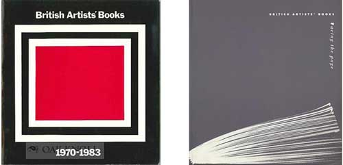 Surveys of British Artists' Books by Silvie Turner . Left:  British Artists' Books 1970-1983  by Silvie Turner & Ian Tyson, 1984, Lund Humphries Ltd, Right:  Facing the Page: British Artists' Books  by Silvie Turner (ed.) 1993, Estamp.