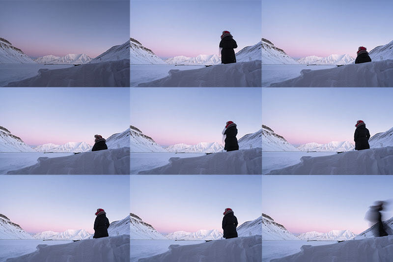 Practicing Standing and Sitting 25  (25 minutes, morning coffee in between civil dawn and dusk). February 13, 2018. Galleri Svalbard.
