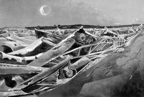 Paul Nash   Totes Meer (Dead Sea)  (1940–1) ©  Tate  {CC-BY-NC-ND 3.0 (Unported)] – said to be based upon the image, right.