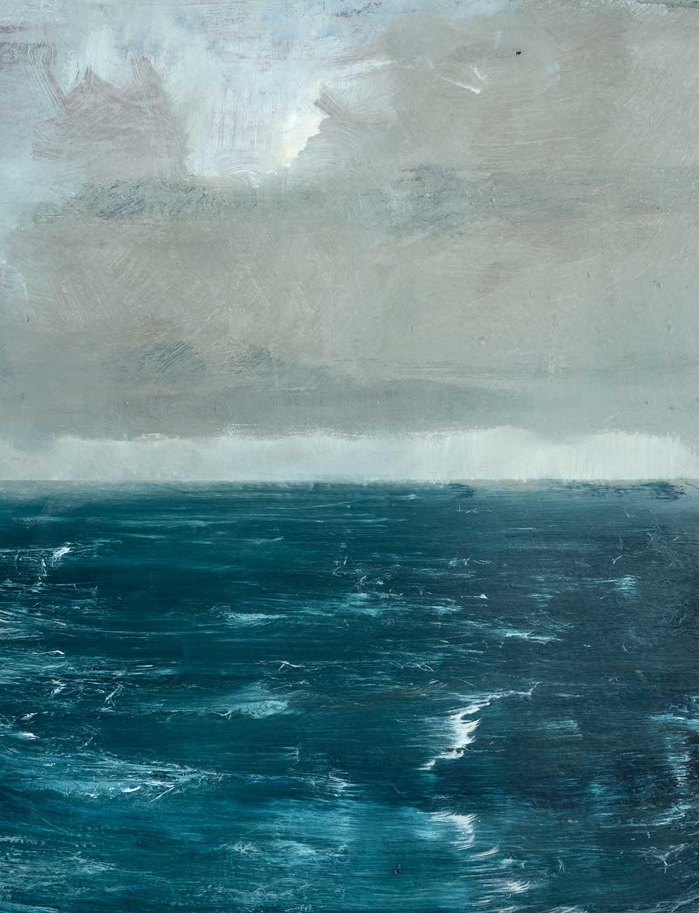 David Cass ,  Horizon 48% , oil on sign, 109.5 x 55cm (detail)