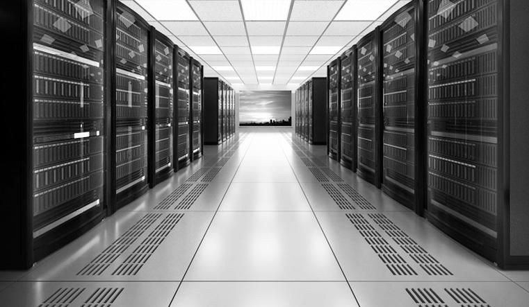 Typical data hosting centre set up (public domain).