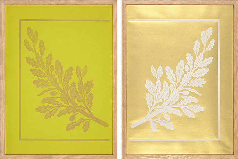 Marion Smith ,  Ex-Libris (diptych) . Relief print (variable edition). (Image courtesy An Talla Solais Gallery)