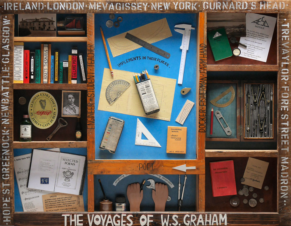 Mike McDonnell ,  The Voyages of W.S. Graham, White Lettering  (courtesy the artist).