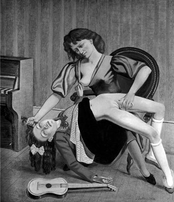 Balthus ,  The Guitar Lesson , 1934, Private Collection.