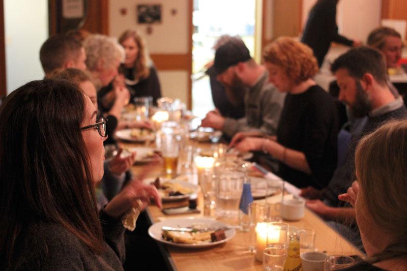 Supper at islandness publication launch , 4 October 2018, Shetland.