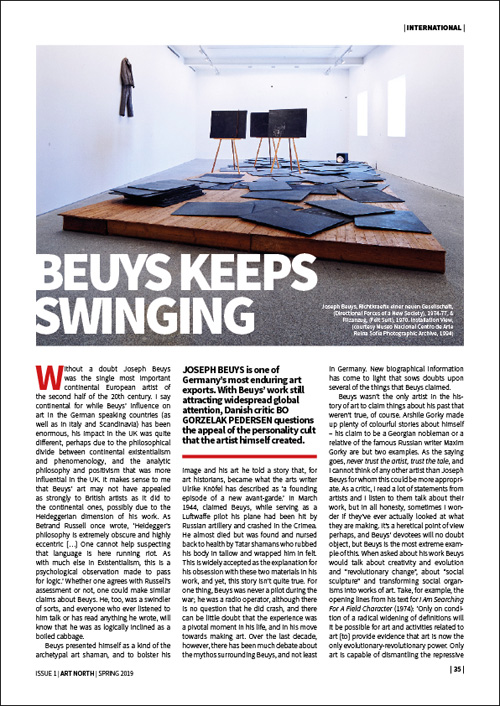 BEUYS KEEPS SWINGING - BO GORZELAK PEDERSEN
