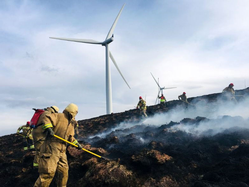 Scottish Fire & Rescue Service at Strathy North Wind Farm  (used with kind permission of Scottish Fire & Rescue Service, ©SFRS, 2019. All other images, public domain).