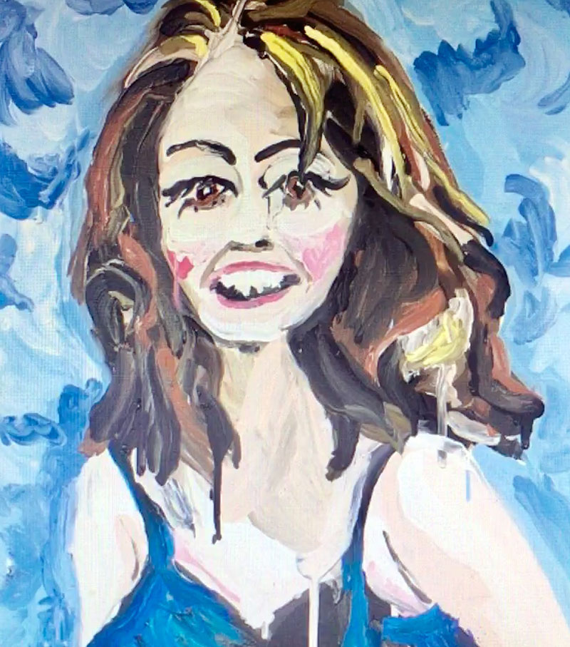 Stella Vine ,  Christine Keeler , 2004, oil on canvas, 80 x 70 cm, private collection